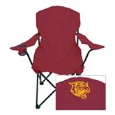 Deluxe Maroon Captains Chair-Wildcat Head