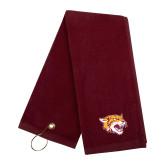 Maroon Golf Towel-Wildcat Head