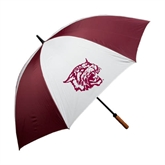 62 Inch Maroon/White Umbrella-Wildcat Head