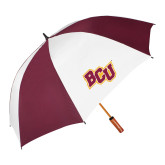 62 Inch Maroon/White Vented Umbrella-BCU