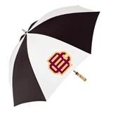 62 Inch Black/White Umbrella-BC Logo