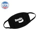 USA Made Black 3 Ply Cotton Mask-Bendix