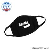 USA Made Black 2 Ply Cotton Mask-Bendix