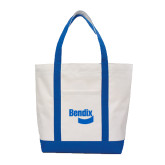 Contender White/Royal Canvas Tote-Bendix
