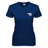 Ladies Navy T Shirt-Bendix
