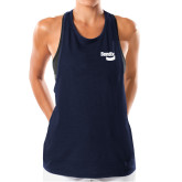 Ladies Under Armour Navy Pinhole Tank-Bendix