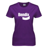 Ladies Purple T Shirt-Bendix