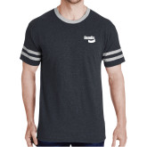 Black Heather/Grey Tri Blend Varsity Tee-Bendix