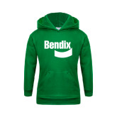 Youth Kelly Green Fleece Hoodie-Bendix