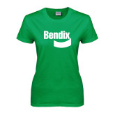 Ladies Kelly Green T Shirt-Bendix