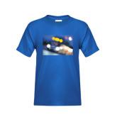 Youth Royal T Shirt-Bendix Truck in Lights