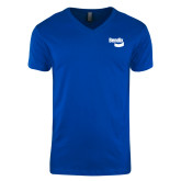 Next Level V Neck Royal T Shirt-Bendix