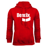 Red Fleece Hoodie-Bendix