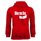 Red Fleece Hoodie-Bendix