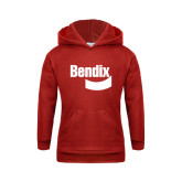 Youth Red Fleece Hoodie-Bendix