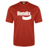 Performance Red Heather Contender Tee-Bendix