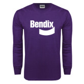 Purple Long Sleeve T Shirt-Bendix