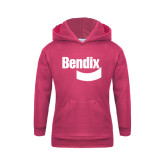 Youth Raspberry Fleece Hoodie-Bendix