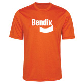Performance Orange Heather Contender Tee-Bendix
