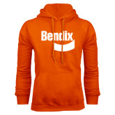 Orange Fleece Hoodie-Bendix
