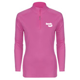 Ladies Syntrel Interlock Raspberry 1/4 Zip-Bendix