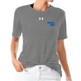 Ladies Under Armour Heather Grey Triblend Tee-Bendix