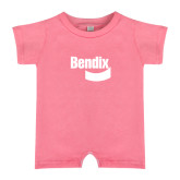 Bubble Gum Pink Infant Romper-Bendix