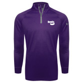 Under Armour Purple Tech 1/4 Zip Performance Shirt-Bendix