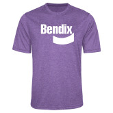 Performance Purple Heather Contender Tee-Bendix