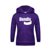 Youth Purple Fleece Hoodie-Bendix