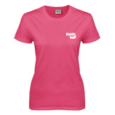 Ladies Fuchsia T Shirt-Bendix