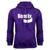 Purple Fleece Hoodie-Bendix