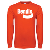Orange Long Sleeve T Shirt-Bendix