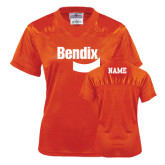 Ladies Orange Replica Football Jersey-Personalized