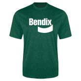 Performance Dark Green Heather Contender Tee-Bendix