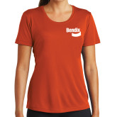 Ladies Syntrel Performance Orange Tee-Bendix