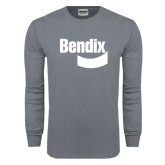 Charcoal Long Sleeve T Shirt-Bendix