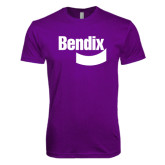 Next Level SoftStyle Purple T Shirt-Bendix