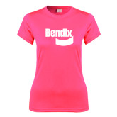 Ladies Performance Hot Pink Tee-Bendix