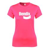 Ladies Performance Hot Pink Tee-Bendix