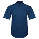 Navy Twill Button Down Short Sleeve-Bendix