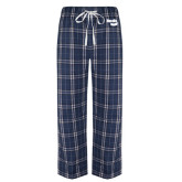 Navy/White Flannel Pajama Pant-Bendix