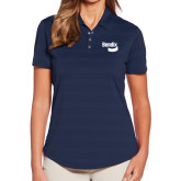Ladies Callaway Horizontal Textured Navy Polo-Bendix