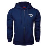 Navy Fleece Full Zip Hoodie-Bendix
