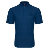 Indigo Blue Horizontal Textured Polo-Bendix