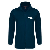 Ladies Fleece Full Zip Navy Jacket-Bendix
