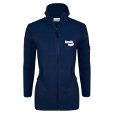 Columbia Ladies Full Zip Navy Fleece Jacket-Bendix