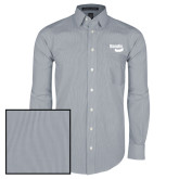 Mens Navy/White Striped Long Sleeve Shirt-Bendix