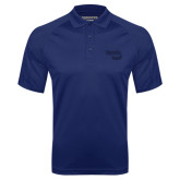 Navy Textured Saddle Shoulder Polo-Bendix