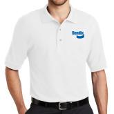 White Easycare Pique Polo-Bendix